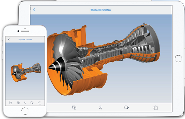 3D View CAD files on your iPhone, iPad and Android smartphones and tablets