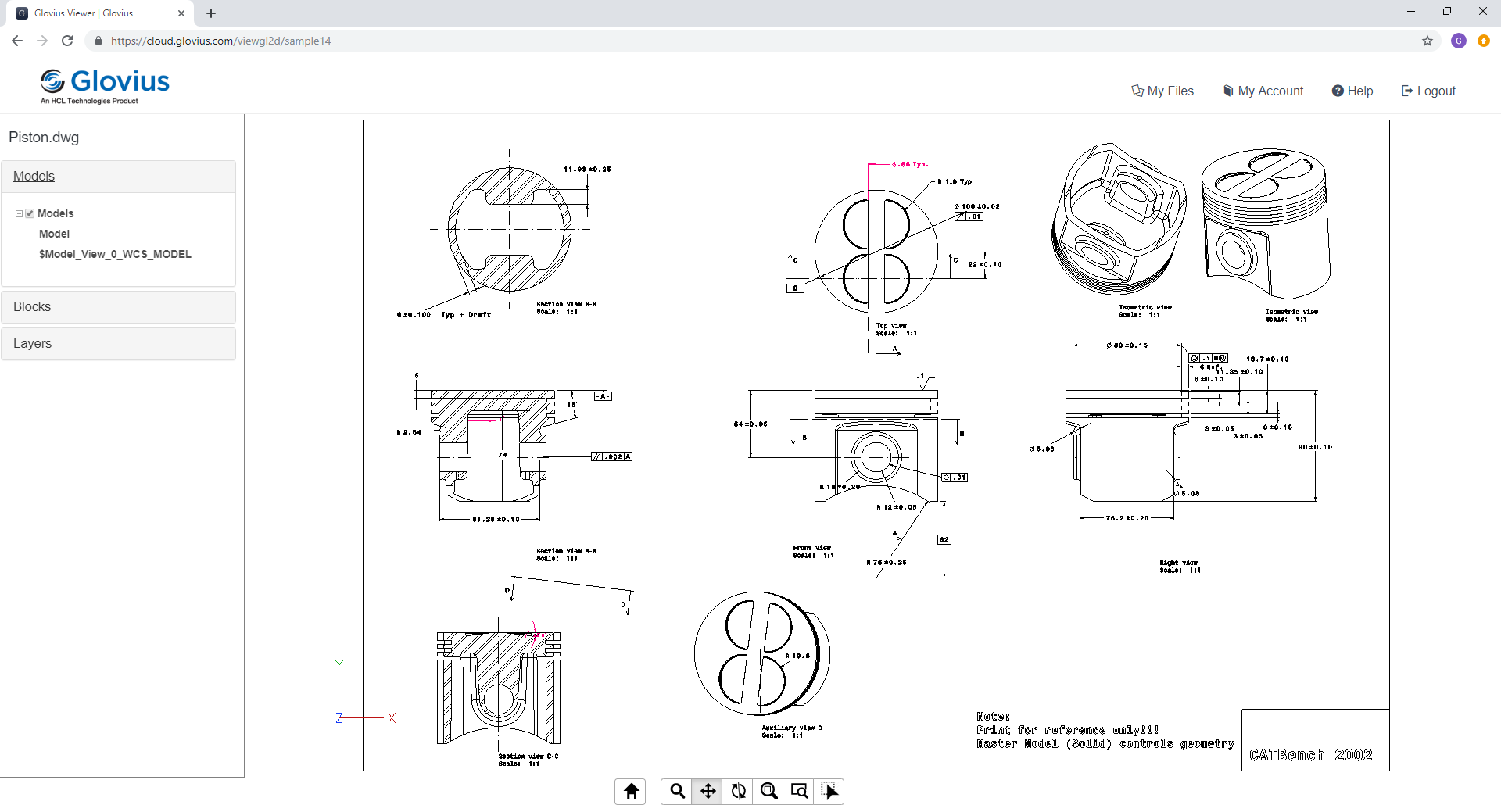 View AutoCAD DWG drawings online
